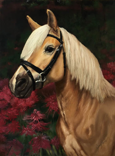 Horse Portrait Pastel, Commission